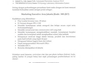 Kesempatan Berkarir, Marketing Executive PT. SUMBERMITRA AGUNGJAYA
