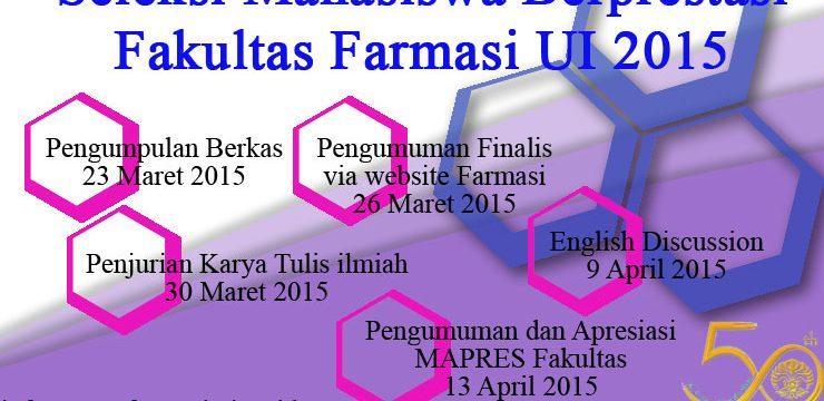 Mahasiswa Berprestasi Fakultas Farmasi UI 2015