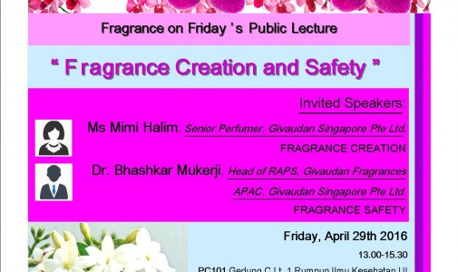 FRAGRANCE ON FRIDAY'S PUBLIC LECTURE