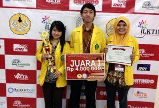 Universitas Indonesia Juara 1 LKTI Tingkat Nasional