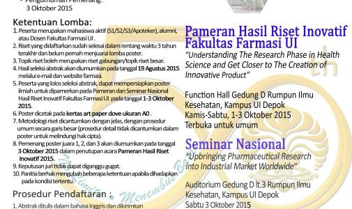 Format Abstrak Lomba Poster Gelar Hasil Riset Fakultas Farmasi
