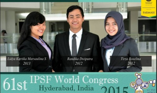 Mahasiswa Farmasi Universitas Indonesia Tunjukkan Eksistensi Macan Asia di Mata Dunia dalam World Congress, India, 2015