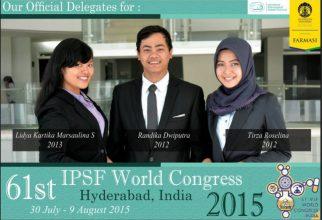 Mahasiswa Farmasi Universitas Indonesia Tunjukkan Eksistensi Macan Asia di Mata Dunia dalam World Congress, India, 2015