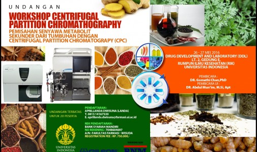 WORKSHOP CENTRIFUGAL PARTITION CHROMATHOGRAPHY