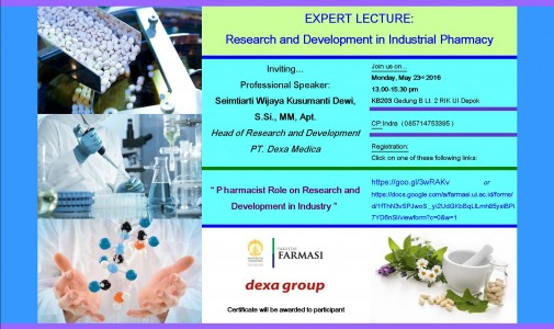 EXPERT LECTURE: Research and Development in Industrial Pharmacy