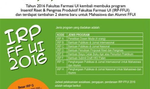 Call for Applicants : IRP FF UI 2016