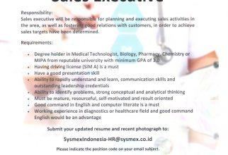 Lowongan Pekerjaan PT Sysmex Indonesia