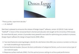 Design-Expert® Software, Version 10