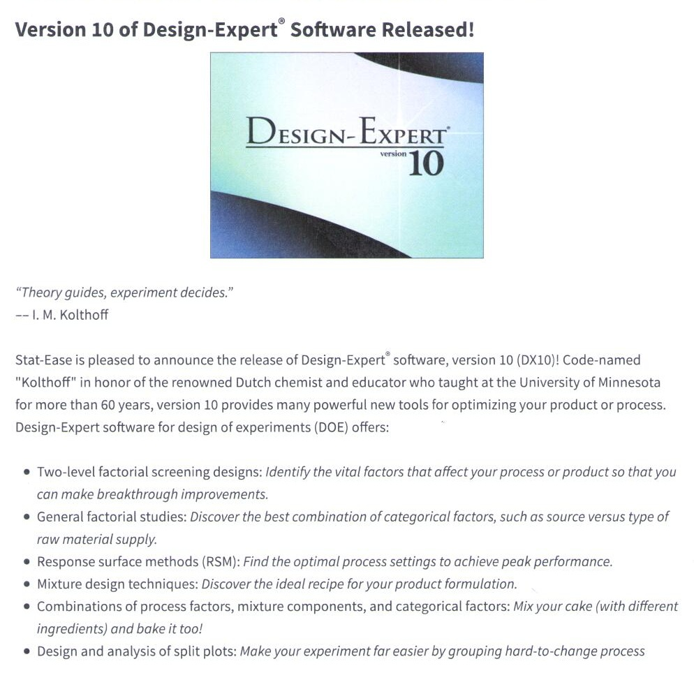 Design Expert Software Version 10 Fakultas Farmasi Universitas Indonesia