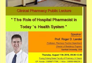 CLINICAL PHARMACY PUBLIC LECTURE