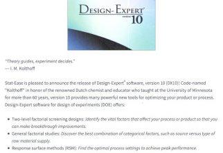 Design-Expert® Software, Version 10