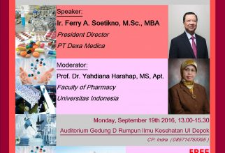 EXPERT LECTURE : Pharmaceutical Industri