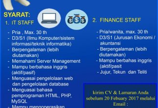 Open Recruitment for IT & Finance Staff FF UI