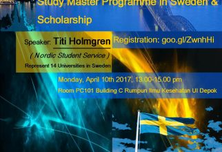 Study Master Programme in Sweden & Scholarship