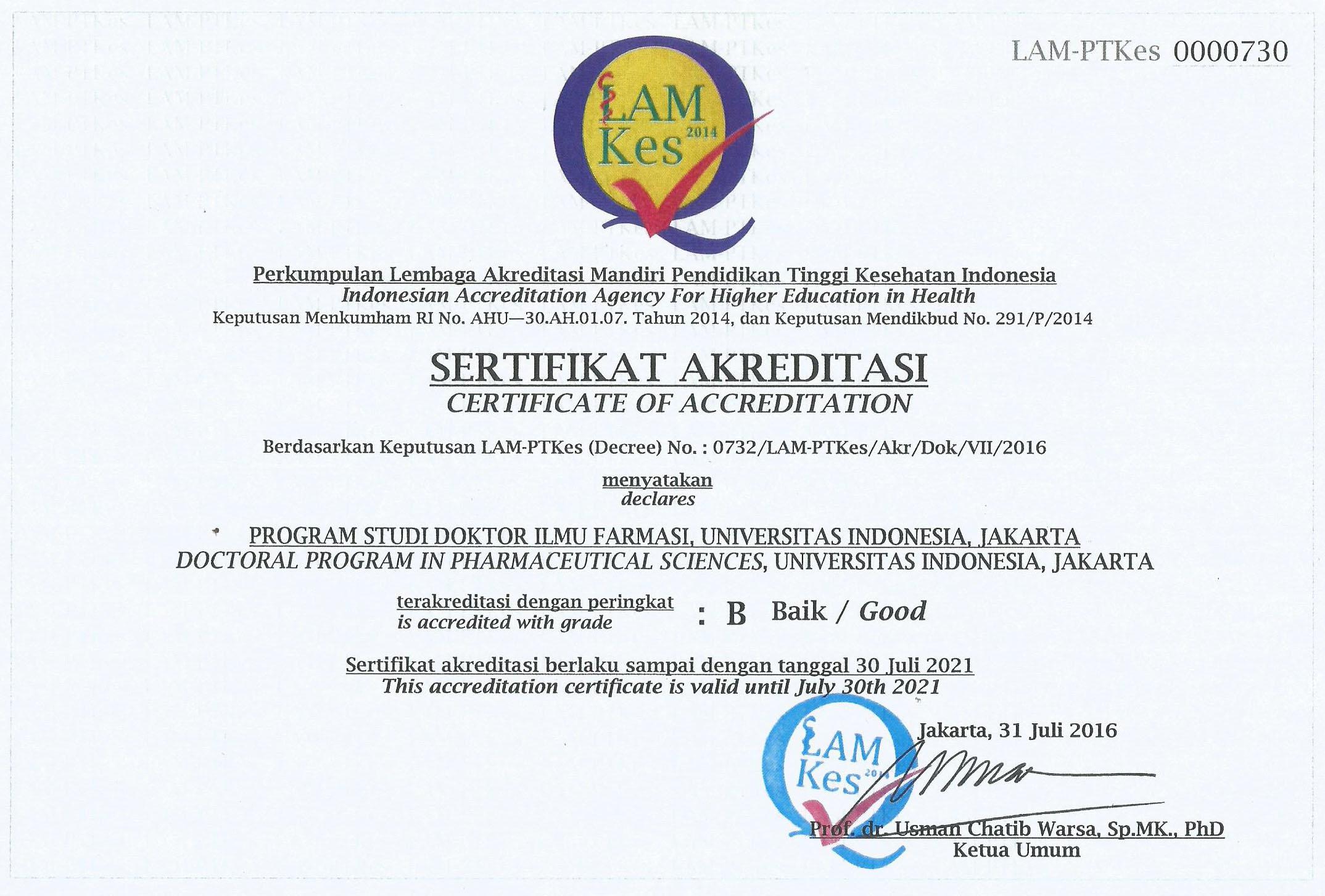 Akreditasi Program Studi S3