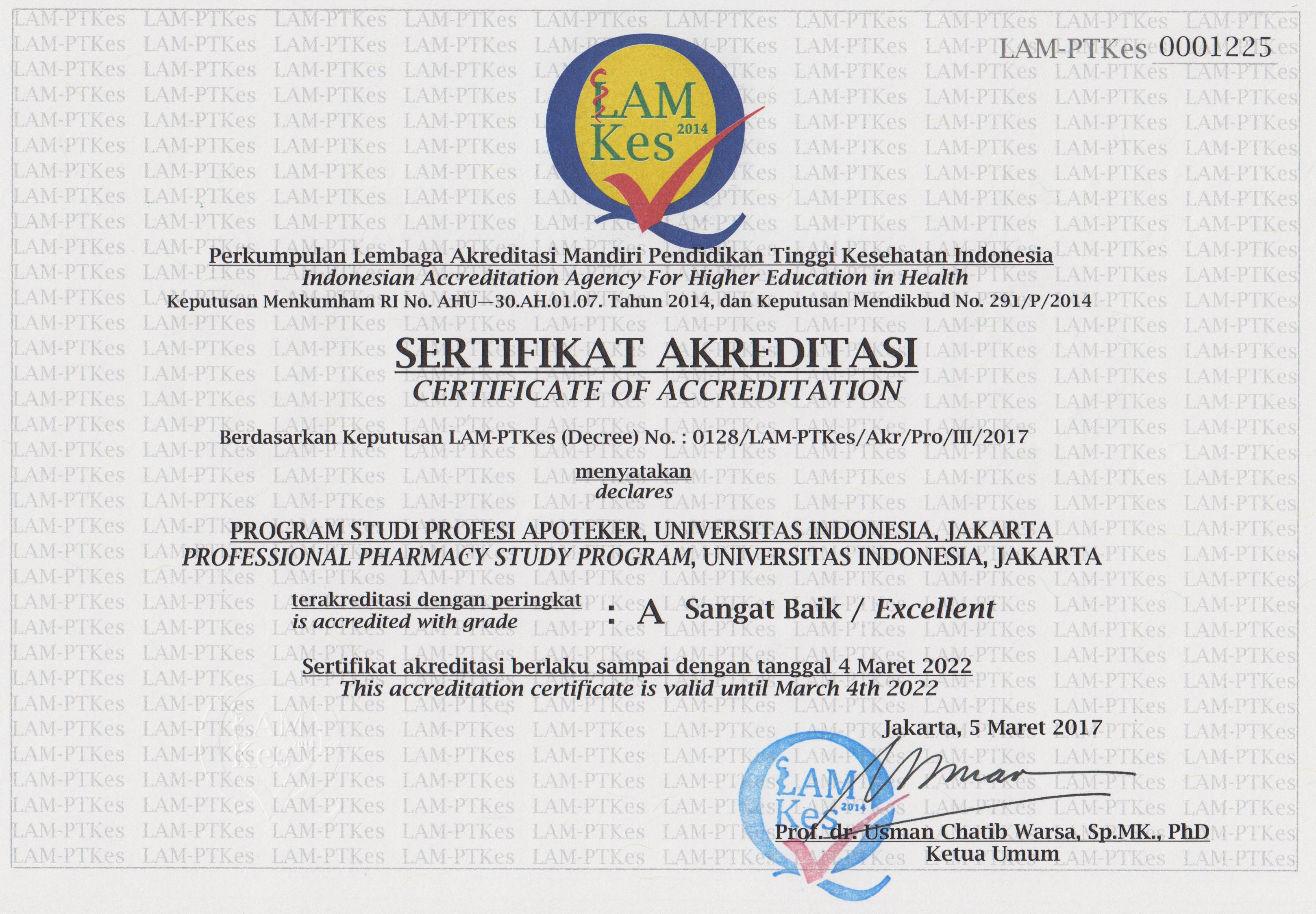 Akreditasi Apoteker 2017