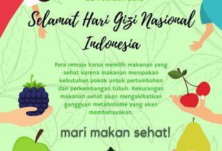 Selamat Hari Gizi Nasional Indonesia!