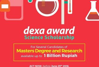 Dexa Award Science Scholarship 2018