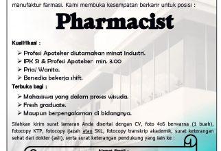 Lowongan Pekerjaan PT. IFARS Pharmaceutical Laboratories