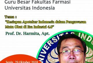 Kuliah GB : Kesiapan Apoteker Indonesia dalam Pengawasan Mutu Obat di Era Industri 4.0