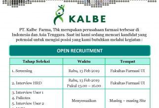 Campus Recruitment PT. Kalbe Farma, Tbk