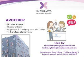 Lowongan Kerja Apoteker di Brawijaya Hospital and Clinic