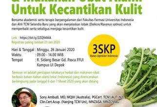 Seminar Farmakodinamik Lobak dan Makanan Alami untuk Kecantikan Kulit