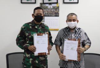 Fakultas Farmasi UI Melaksanakan Penandatanganan Perjanjian Kerjasama dengan Universitas Pertahanan (Unhan) di masa Pandemi