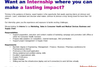 Internship from Johnson & Johnson Indonesia
