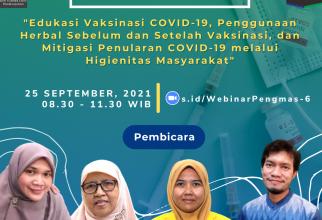 Webinar Pengmas #6 Program Sehat di Masa Vaksinasi COVID-19