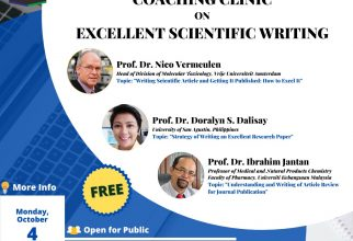 COACHING CLINIC On Excellent Scientific Article Writing